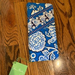 Vera Bradley blue  lagoon travel wallet retired